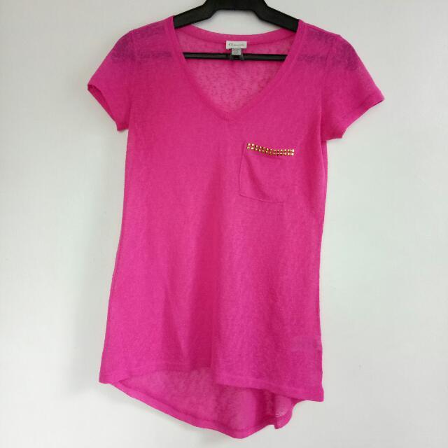 Pink see-through top