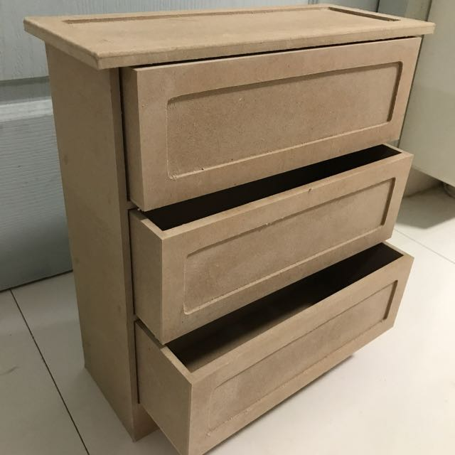 Plain Wooden Small Drawer Design Craft Craft Supplies Tools On