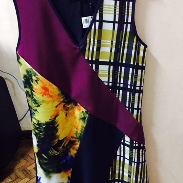 Plains And Prints Dress Xs