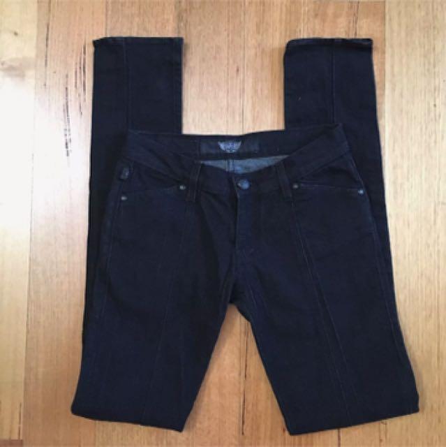 Rock & Republic R&R Black Skinny Jeans Size 26