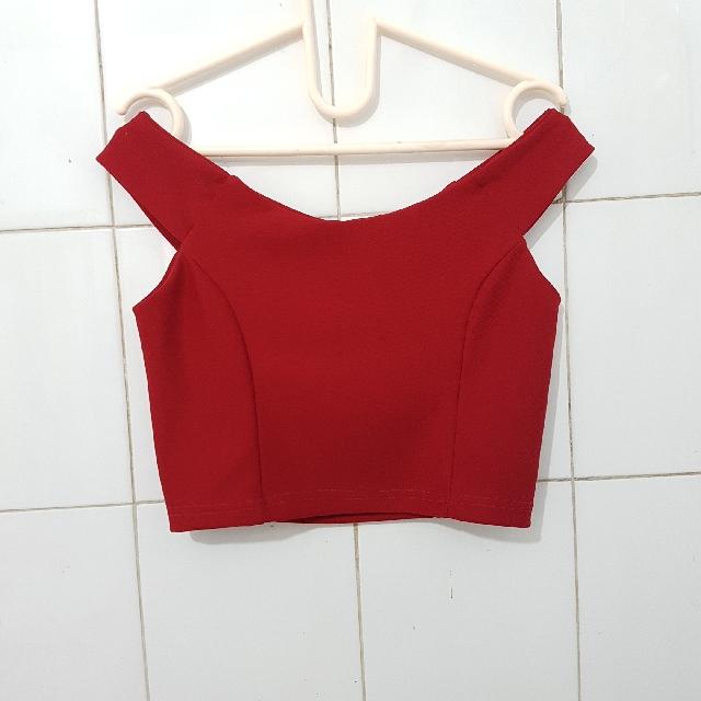 Sabrina Crop Red