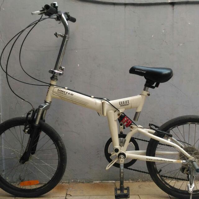 Sepeda Lipat Merk United Quest Olah Raga Sepeda Di Carousell