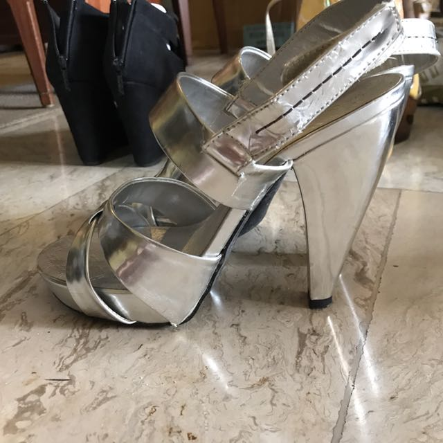 Silver Sandals Heels