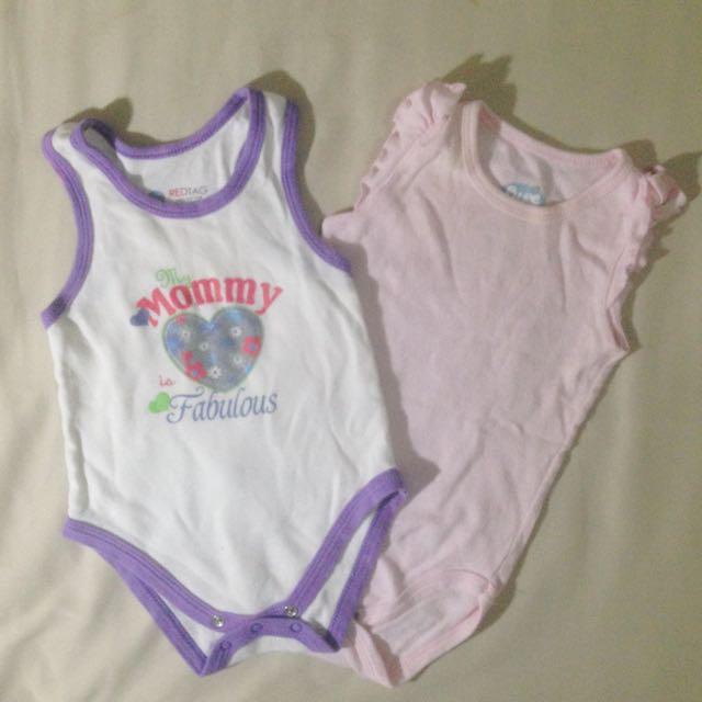 Sleeveless Onesies For Baby Set Of 2