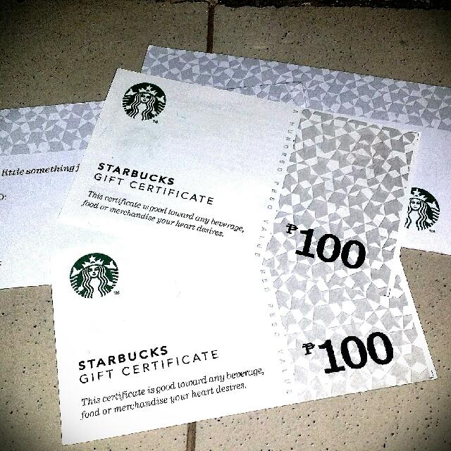 Starbucks Gc's