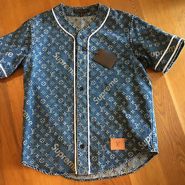 7d90be6f78f Supreme X Louis Vuitton Baseball Jacket (BLU)
