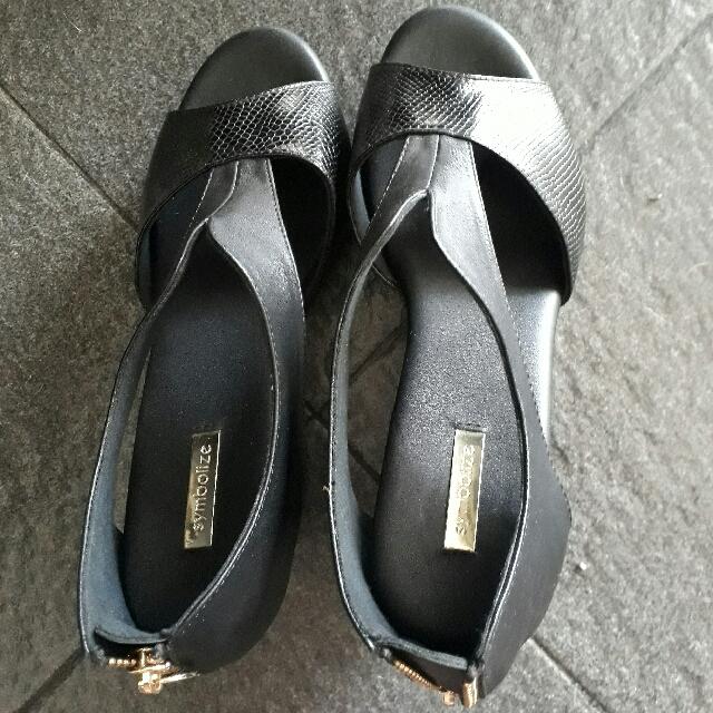 Symbolize Black Wedges Shoes