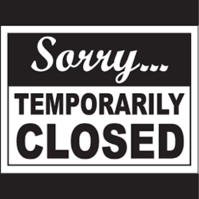 Temporarily closed 🙏🏻