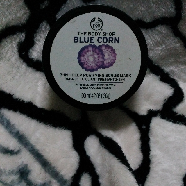 The Body Shop 3in1 Deep Purifying Blue Corn Mask And Scrub