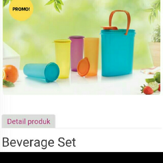 Tupperware Beverage Set Buddy With Giant Tumbler