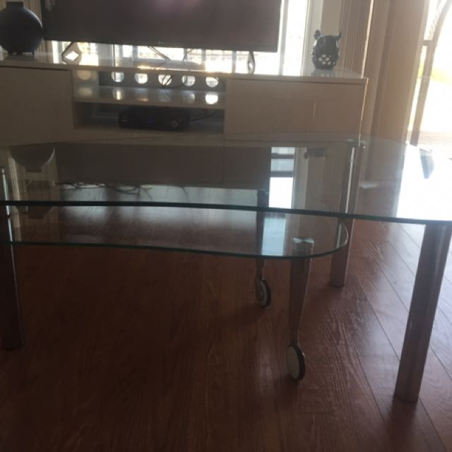 Two Tier Glass Coffee Table
