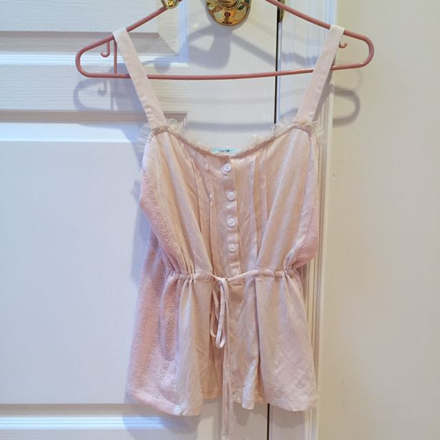 UO Urban Outfitters Kimchi Blue Pale Pink Tank Top Camisole