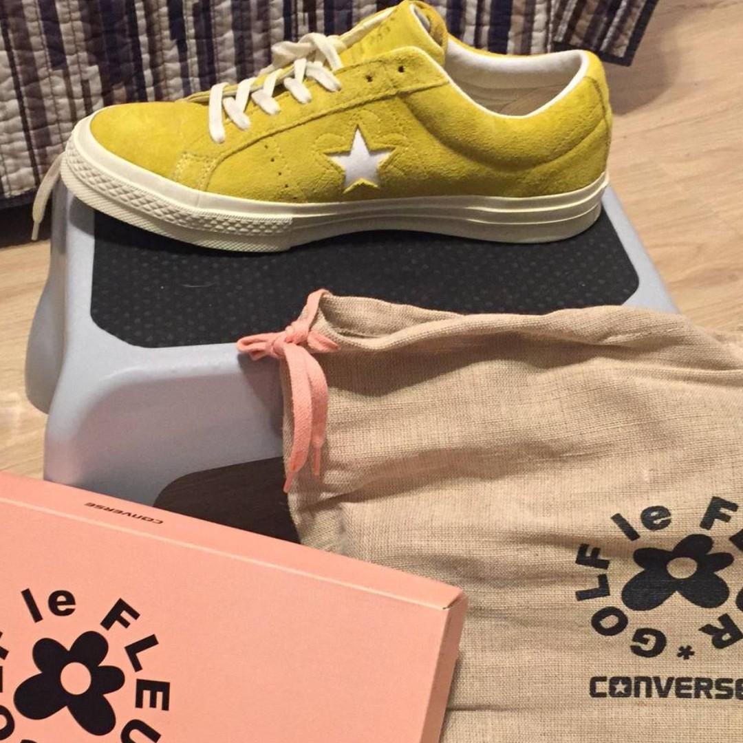 US 8.5 GOLF WANG Converse X Golf Le Fleur Sulphur Yellow b13adca2c46