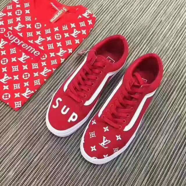 VANS X SUPREME LV Collab Skate Sneakers Luxury Apparel On Carousell