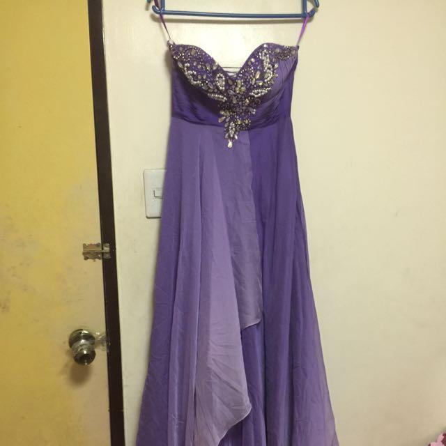 Violet Elegant Long Gown