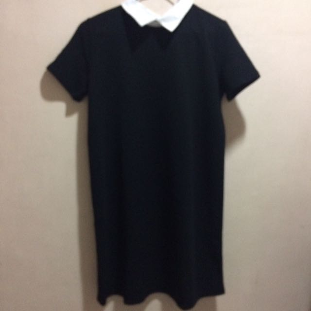 Zara Black Collar Dress