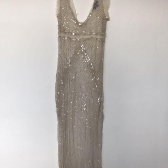 Zara See-thru Long Dress