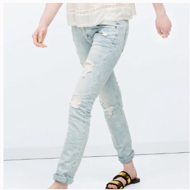 4879abb3 Zara trafaluc ripped jeans, Women's Fashion, Clothes, Pants, Jeans ...