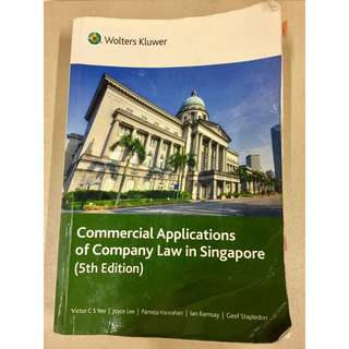 AC2302 Commercial Applications of Company Law in Singapore Fifth Edition