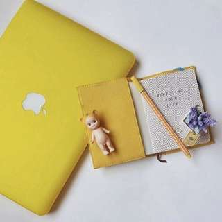 Matte Yellow MacBook Case