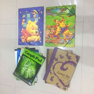 Assorted Note Pads & Files