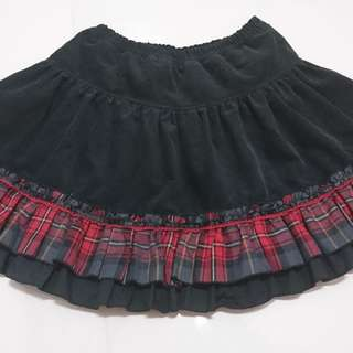 Black Velvet Skirt By Putumayo - Gothic Lolita