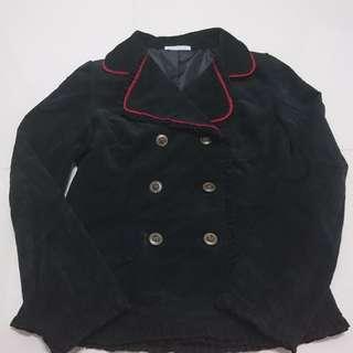 Black Velvet Coat By Putumayo - Gothic Lolita