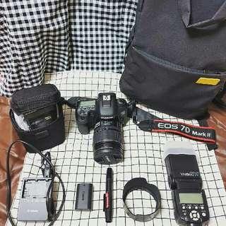 Canon 7D Mark2 單眼相機/鏡頭兩顆(變焦15-85mm,定焦30mm)含圖片配件