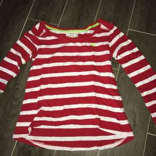 Stripped long sleeve top