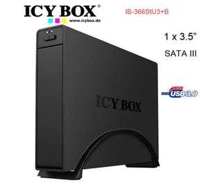 ICYBOX IB-366StU3+B High end Aluminum Case for 3.5 inc SATA III HDD to USB 3.0, ASM 1051E chip, UASP, EasySwap, BLACK