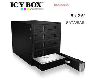 "ICY BOX IB-565SSK Backplane for 5x 3.5"" SATA or SAS HDD in 3x 5.25"" bay"