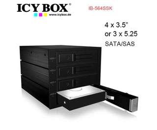 "ICY BOX IB-564SSK Backplane for 4x 3.5"" SATA or SAS HDD in 3x 5.25"" bay"