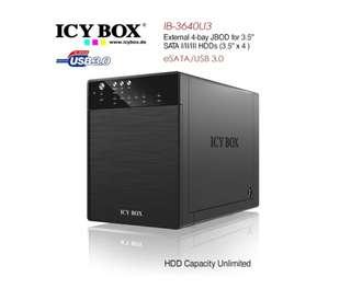 ICY BOX IB-3640SU3 External 4-bay JBOD system for 3.5 Inch SATA HDDs