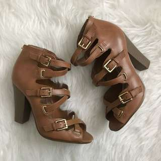 GUESS Strappy Block Heels Size 7