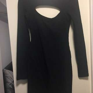 Kookai Cut Out Black Dress Size 2