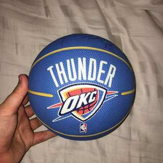Autographed Russell Westbrook Basketball