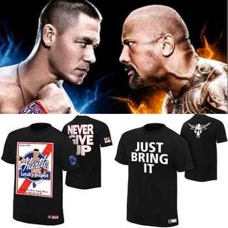 Authentic WWE Tshirt John Cena vs The Rock Set