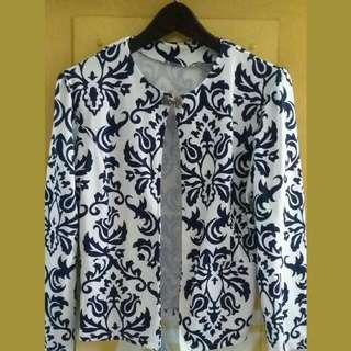 REPRICE!!....Outer/ Blazer Blue White Porcelain
