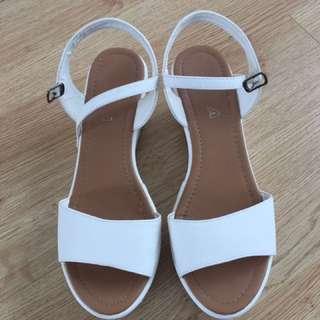 Versatile White Block Sandals