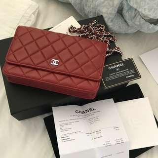 Chanel Wallet Woc Silver Chain