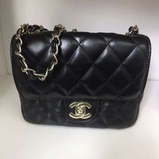 Chanel Inspired Leather Purse