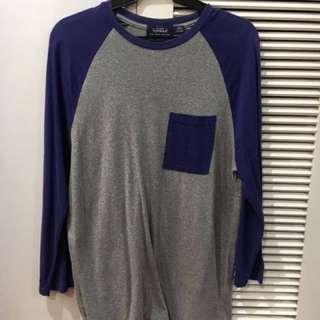 Topman Long sleeve Baseball Shirt