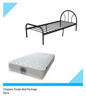 Single bed package, PACKAGE INCLUDE WITH A BED FRAME AND AN COMFY BRAND NEW MATTRESS