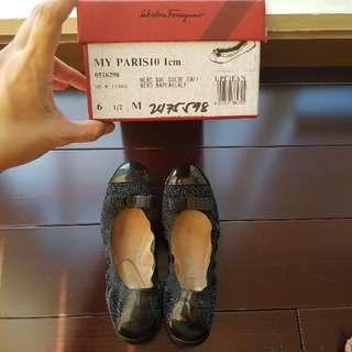 Ferragamo Black Ballet Flats
