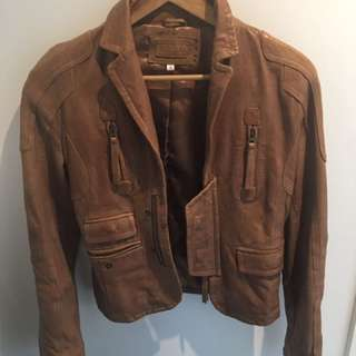 Kookai Leather Jacket Size 36