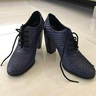 ankle boots navy bv style bottega veneta