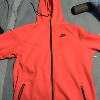 Large Red Nike Tech Fleece