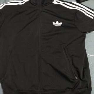 Black Adidas Firebird Trackjacket