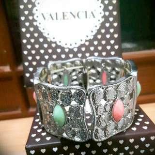 Gelang Silver Batu Pastel Valencia