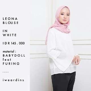 IWEARDINS LEONA BLOUSE IN WHITE